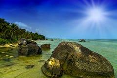 Rocks sun paradise Stock Photos