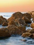 Rocks at sunrise. Black Sea rocks at sunrise in Bulgaria Royalty Free Stock Photos