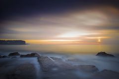 Rocks and sunrise Stock Photography