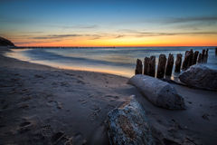 Rocks during sunset Royalty Free Stock Photography