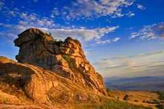 Rocks at sunset in Macedonia Royalty Free Stock Photography