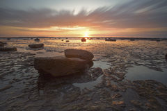 Rocks and sunset Stock Image