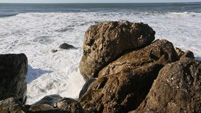 Rocks and surf of the Atlantic ocean. stock footage