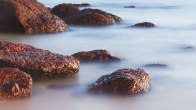 Rocks in the Surf Royalty Free Stock Photography