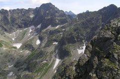 Rocks in Tatra Mountains. Beautiful Mountains in the middle of Europe Royalty Free Stock Photography