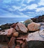 Rocks At Thunder Hole Stock Photography
