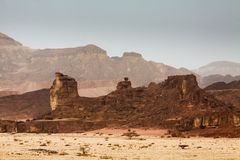 Rocks in Timna park in Israel. Sand rocks in a desert of Israel Royalty Free Stock Image