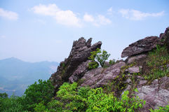 Rocks on the top of mountain Royalty Free Stock Photo