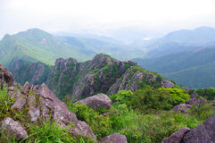 Rocks on the top of mountain. Rocks on the mountaintop of chinese Nanning ridge Stock Photo
