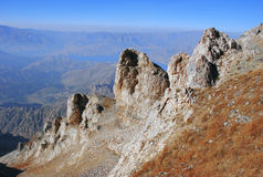 Rocks on the top of the Tian Shan Stock Image
