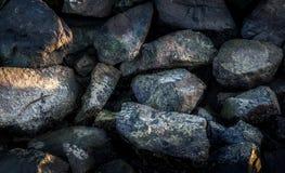 Rocks. Top view of rocks on beach Stock Photo