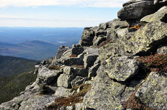 Rocks on the top of Whiteface Mountain Royalty Free Stock Photography
