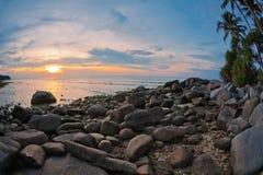 Tropical sunset. Stock Photos