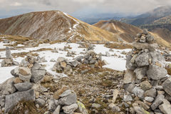 Rocks tower on Malolaczniak top - Tatras Mountains Royalty Free Stock Images