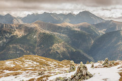 Rocks tower on Malolaczniak top - Tatras Mountains Royalty Free Stock Photography