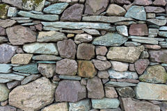 Rocks in traditional dry stone wall. Cumbria. Stock Images