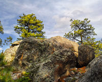 Rocks, Trees, Sky Royalty Free Stock Images