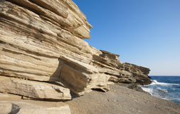 Rocks at Triopetra beach. Mediterranean sea. Greece Stock Photography