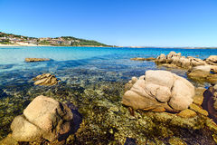 Rocks and turquoise water in Cala Battistoni Royalty Free Stock Images