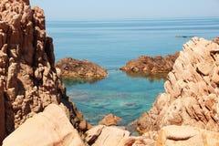 Rocks. By the Tyrrhenian sea Stock Images