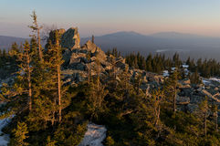 Rocks in Ural mountains Stock Images