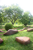 Rocks used for Landscaping in a Garden Royalty Free Stock Image