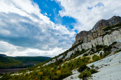 Rocks in valley. Royalty Free Stock Photography