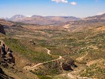 Rocks and valley view Turkey, Malatya stock photo
