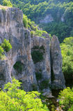 Rocks and Vegetation of Emen Canyon. In Bulgaria in Veliko Tarnovo province Royalty Free Stock Image