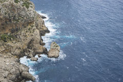Rocks, views of Cape formentor in the tourist region of Mallorca. Located northeast of the island Stock Photography