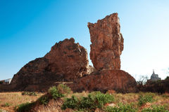 Rocks in village of Monteagudo near Murcia, Spain Stock Photography