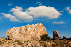 Rocks in village of Monteagudo near Murcia, Spain Royalty Free Stock Photography