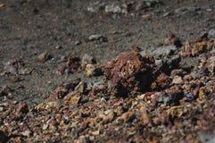 Rocks of volcano, Piton de la Fournaise, Ile de La Réunion Stock Photography