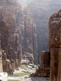 Rocks Wadi Mujib -- national park located in area of Dead sea, Jordan Stock Photography