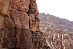 Rocks Wadi Mujib -- national park located in area of Dead sea, Jordan Royalty Free Stock Photo