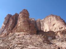 Rocks in wadi rum Royalty Free Stock Photos