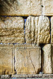 Rocks of the Wailing wall close up in Jerusalem Royalty Free Stock Images