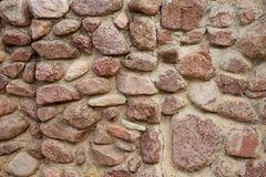 Rocks Wall. Hands Made Rocky Wall Royalty Free Stock Photo