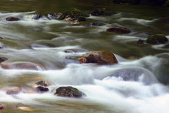 Rocks And Water. Middle prong of The Little River,Great Smoky Mountains stock photos