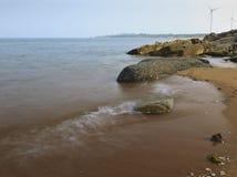 Rocks and water. A corner of a beach near Taili harbor, Xingcheng, northeast China Royalty Free Stock Photos