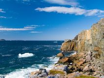 Rocks and Water. A picture of a rocky shoreline, shot in Newfoundland, Canada Royalty Free Stock Photography
