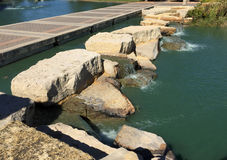Rocks , water and alley  landscapes deign  Royalty Free Stock Photos
