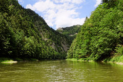 Rocks and water in the mountains. In Pieniny on Slovakia Stock Photos