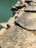 Rocks and water outdoor landscapes deign Royalty Free Stock Images