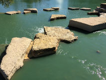 Rocks and water outdoor landscapes deign Royalty Free Stock Photo
