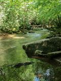 Rocks and Water at South Mountains State Park stock photography
