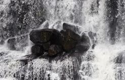 Rocks in waterfall Royalty Free Stock Photo