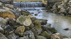 Rocks waterfall. Rocks and waterfall Royalty Free Stock Images