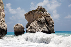 Rocks and waves. Royalty Free Stock Photography