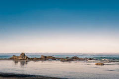 Rocks and waves at Pacific Ocean in Ruby Beach royalty free stock photos